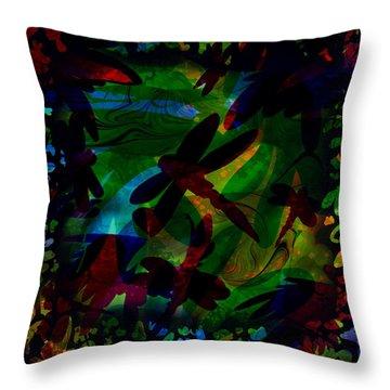 Dragonfly Throw Pillow by Rachel Christine Nowicki