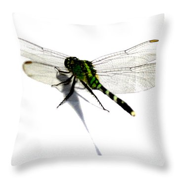 Throw Pillow featuring the painting Dragonfly by Tbone Oliver