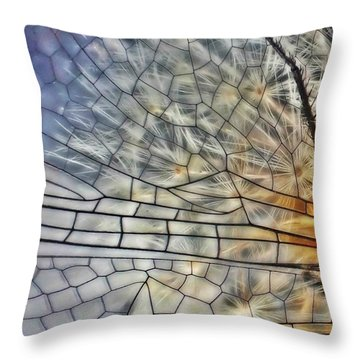 Dragonfly Wing Throw Pillow