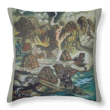 Dragon's Breath Throw Pillow