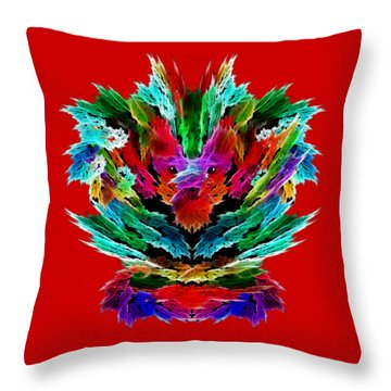 Dragon's Breath Throw Pillow by Methune Hively