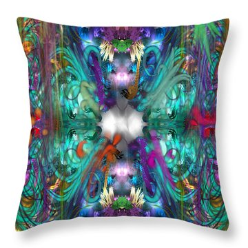 Dragons Of The Temple Throw Pillow
