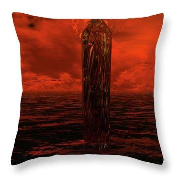 Dragon's Spire Throw Pillow
