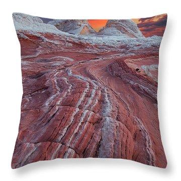 Dragons Tail Sunrise Throw Pillow