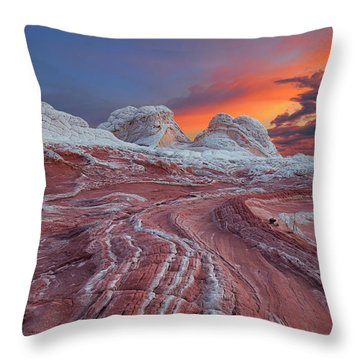 Dragons Tail Sunrise Throw Pillow