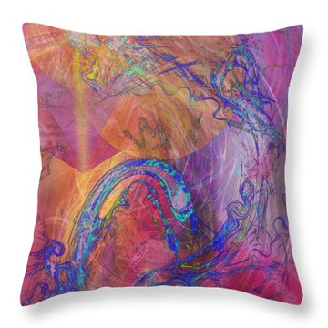 Dragon's Tale Throw Pillow by John Beck