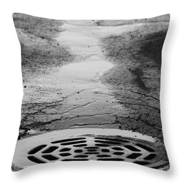 Drained Throw Pillow by Lauri Novak