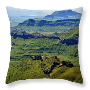 Drakensberg Mountains Throw Pillow