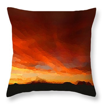 Drama At Sunrise Throw Pillow