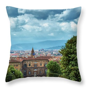 Drama In The Palace Of Firenze Throw Pillow