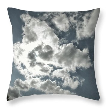 Drama In The Sky Throw Pillow by Karen Stahlros
