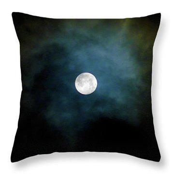 Throw Pillow featuring the photograph Drama Queen Full Moon by Menega Sabidussi