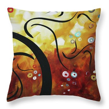 Drama Unleashed 1 Throw Pillow by Megan Duncanson