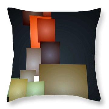Dramatic Abstract Throw Pillow by Rafael Salazar