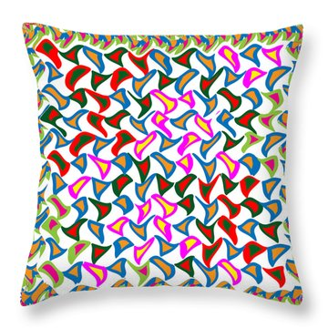 Dramatic Artistic Wind Blows The Paper Cuttings In A Dancing Mode Throw Pillow