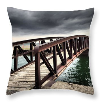 Dramatic Bridge Throw Pillow