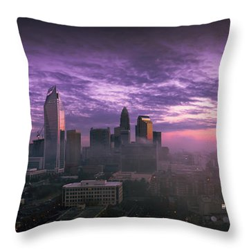 Dramatic Charlotte Sunrise Throw Pillow