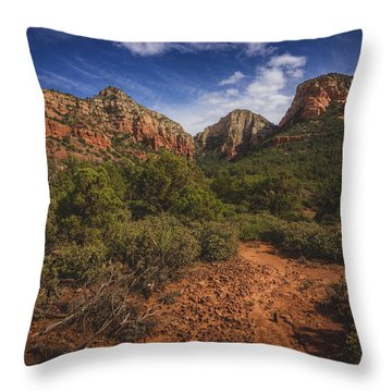 Dramatic Cloudscape Over Capitol Butte Throw Pillow