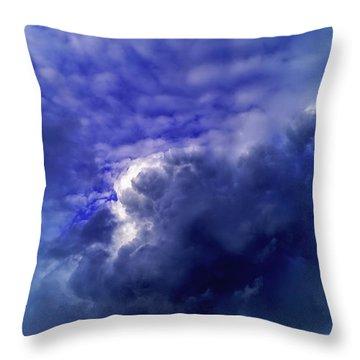 Dramatic Cumulus Sky Throw Pillow