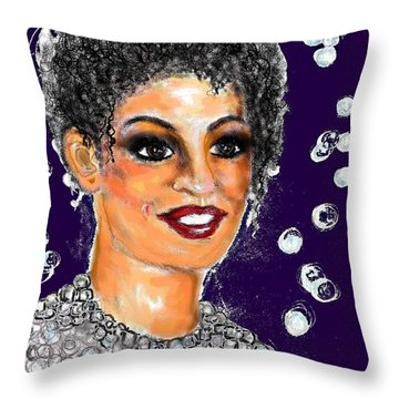 Throw Pillow featuring the digital art Dramatic Flare by Desline Vitto