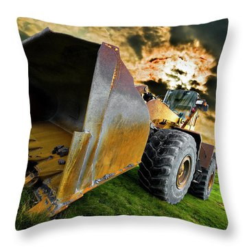 Dramatic Loader Throw Pillow