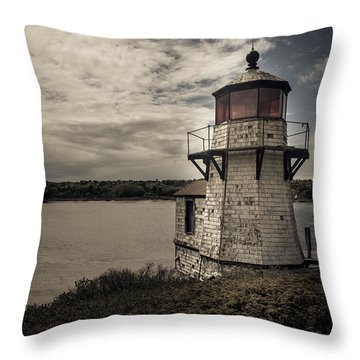 Dramatic Mid-day Shot Of Squirrel Point Throw Pillow