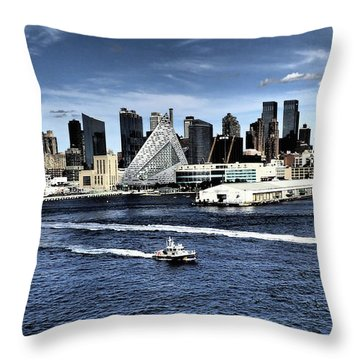 Dramatic New York City Throw Pillow