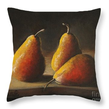 Dramatic Pears Throw Pillow