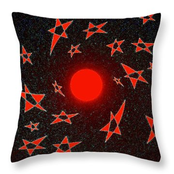 Throw Pillow featuring the mixed media Dramatic Radiation  by Will Borden