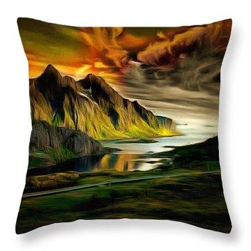 Dramatic Skies Throw Pillow