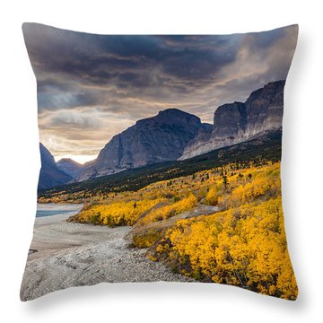 Dramatic Sunset Sky In Autumn  Throw Pillow