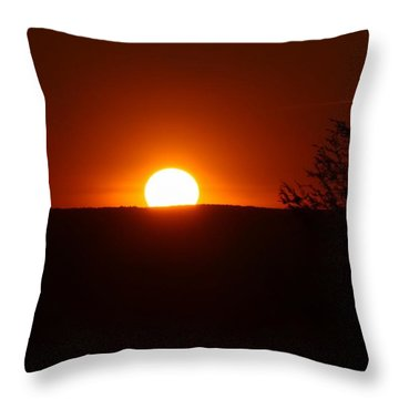 Dramatic Sunset View From Mount Tom Throw Pillow