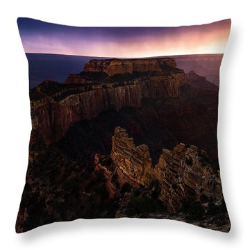 Dramatic Throne Throw Pillow