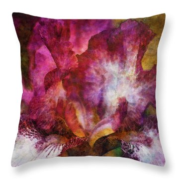 Dramatic White And Purple 0273 Idp_2 Throw Pillow