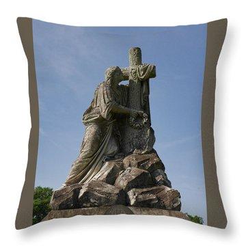 Draped Cross Throw Pillow