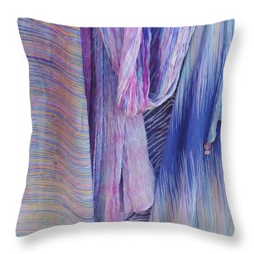 Draped In Lavendar Throw Pillow