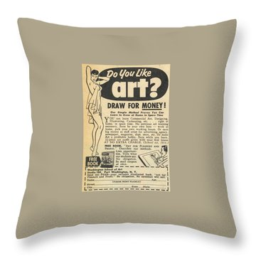 Draw For Money Throw Pillow