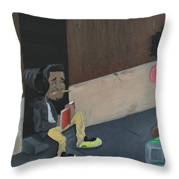Draw Me Throw Pillow by McKinson  Souverain