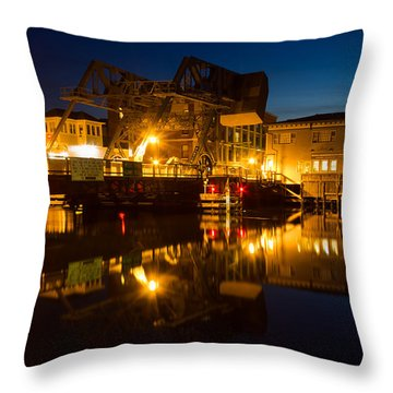 Drawbridge Illuminated  Throw Pillow