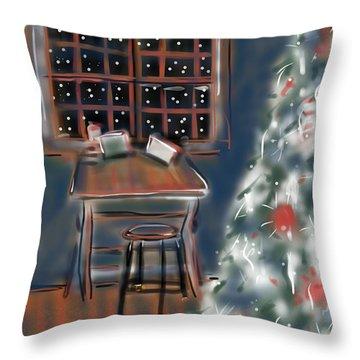 Drawing Board At Christmas Throw Pillow