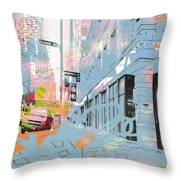 Drawing On Hennepin Ave.  Throw Pillow
