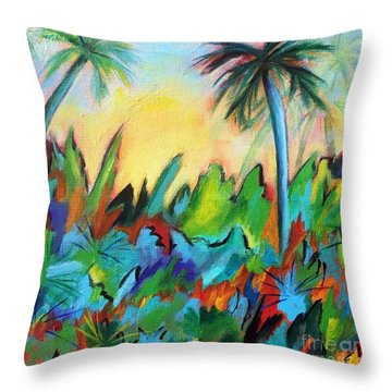 Drawn By The Color Throw Pillow