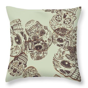 Drawn Out Nightmares Throw Pillow