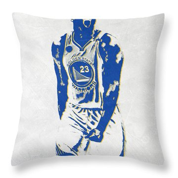 Draymond Green Golden State Warriors Pixel Art Throw Pillow
