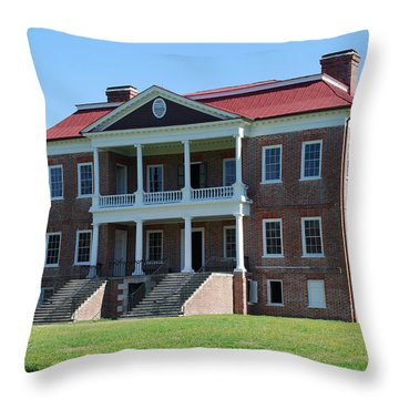 Drayton Hall Throw Pillow by Gordon Mooneyhan
