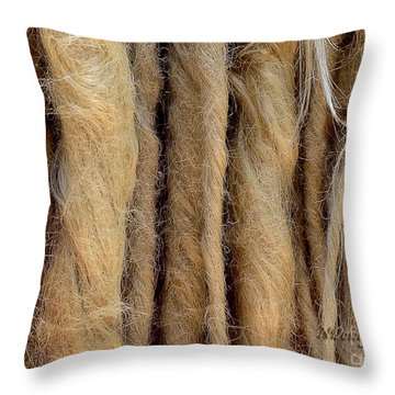 Dreads Throw Pillow