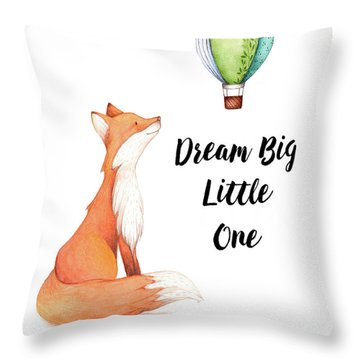 Throw Pillow featuring the digital art Dream Big Little One by Colleen Taylor