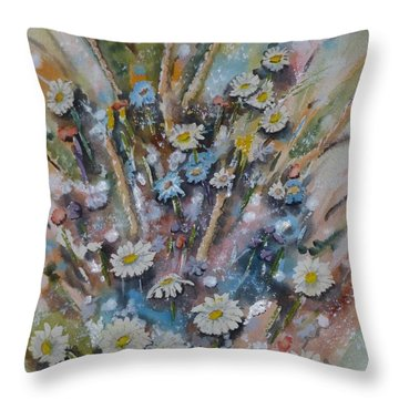 Dream Bouquet Throw Pillow by Kelly Mills