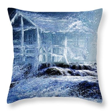 Dream Cabin  Throw Pillow by Michael Cleere