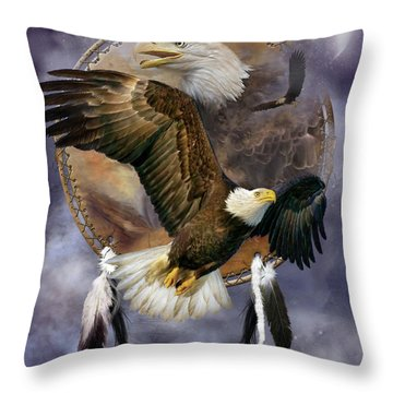 Dream Catcher - Spirit Eagle Throw Pillow